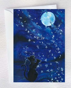 Cats and the moon
