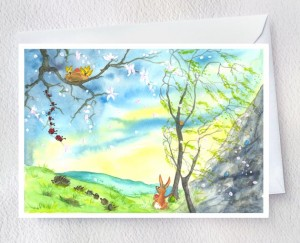Seven hidden eggs auf Fineart Aquarellpapier